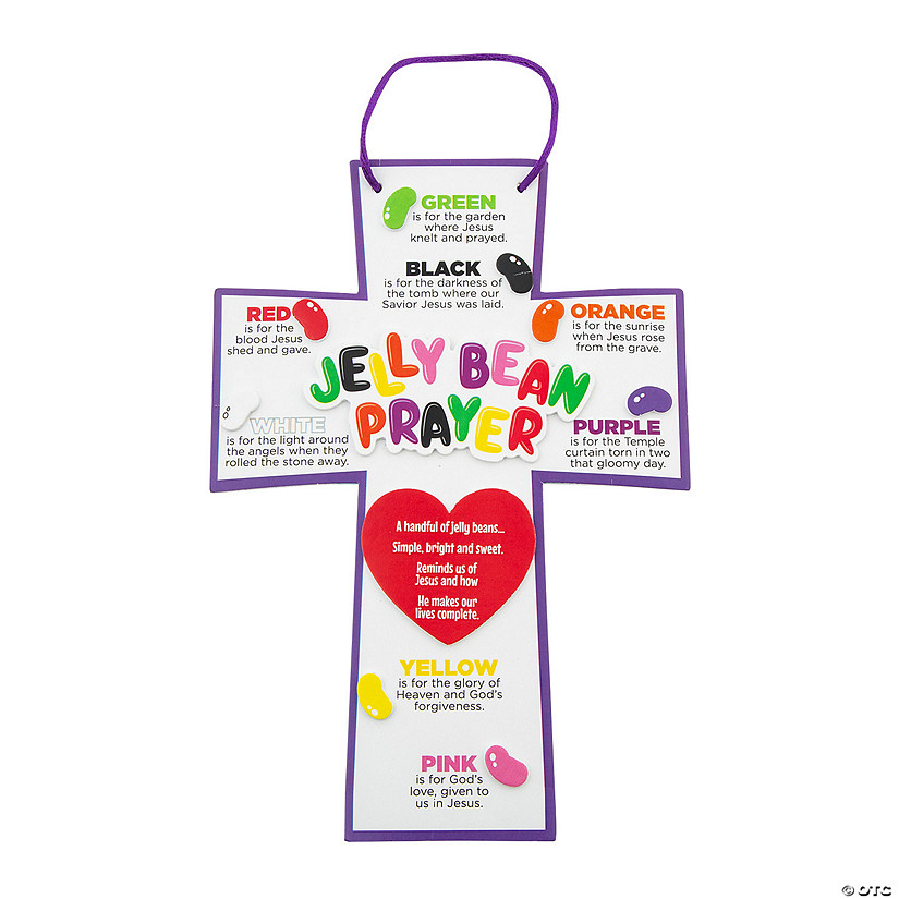 Jelly Bean Prayer Crosses Craft Kit Oriental Trading