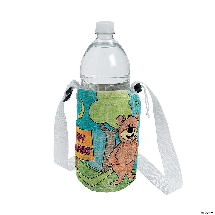 Color Your Own Camp Water Bottle Holder