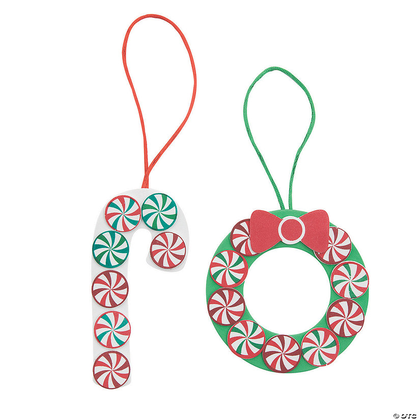 peppermint candies christmas ornament craft kit - Peppermint Candy Christmas Ornaments