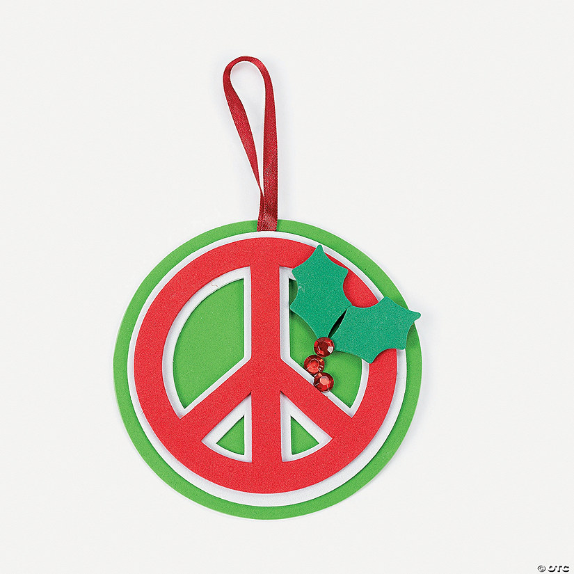 Peace Christmas Sign.Christmas Peace Sign Ornament Craft Kit Discontinued