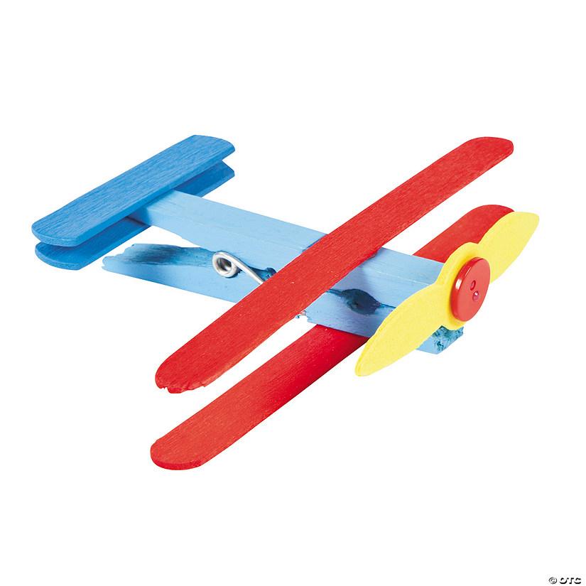clothespin airplane craft kit