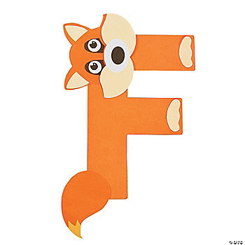 letter f crafts f is for fox letter f craft kit 49218