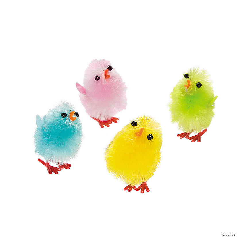 colorful baby chicks
