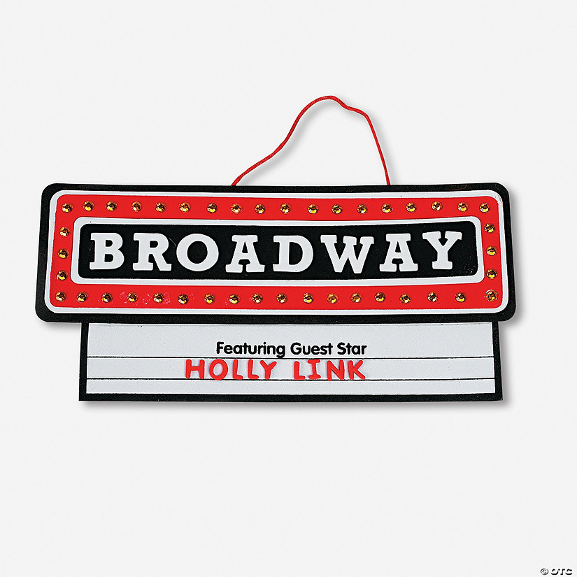 "Broadway"" Sign Craft Kit - Discontinued"