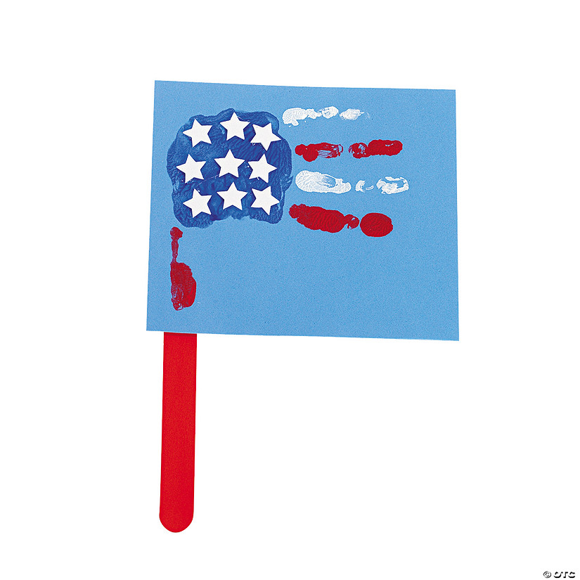 Handprint Patriotic Flag Craft Kit
