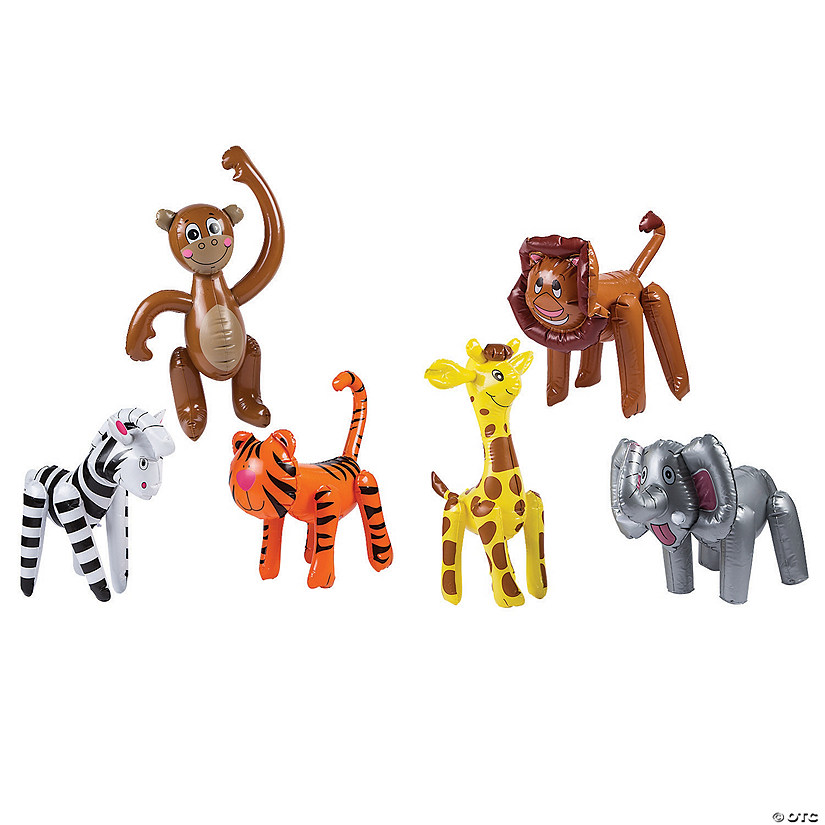 36-Pack Assorted Rain Forest Animal Figures