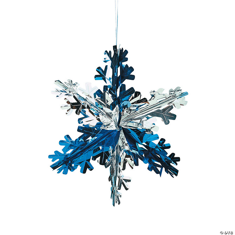 foil snowflake decorations - Snowflake Christmas Decorations