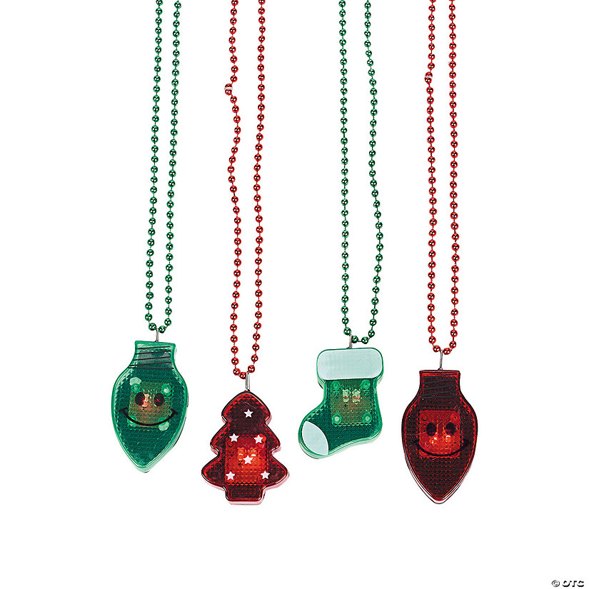 Light Up Christmas Necklace.Holiday Light Up Necklaces