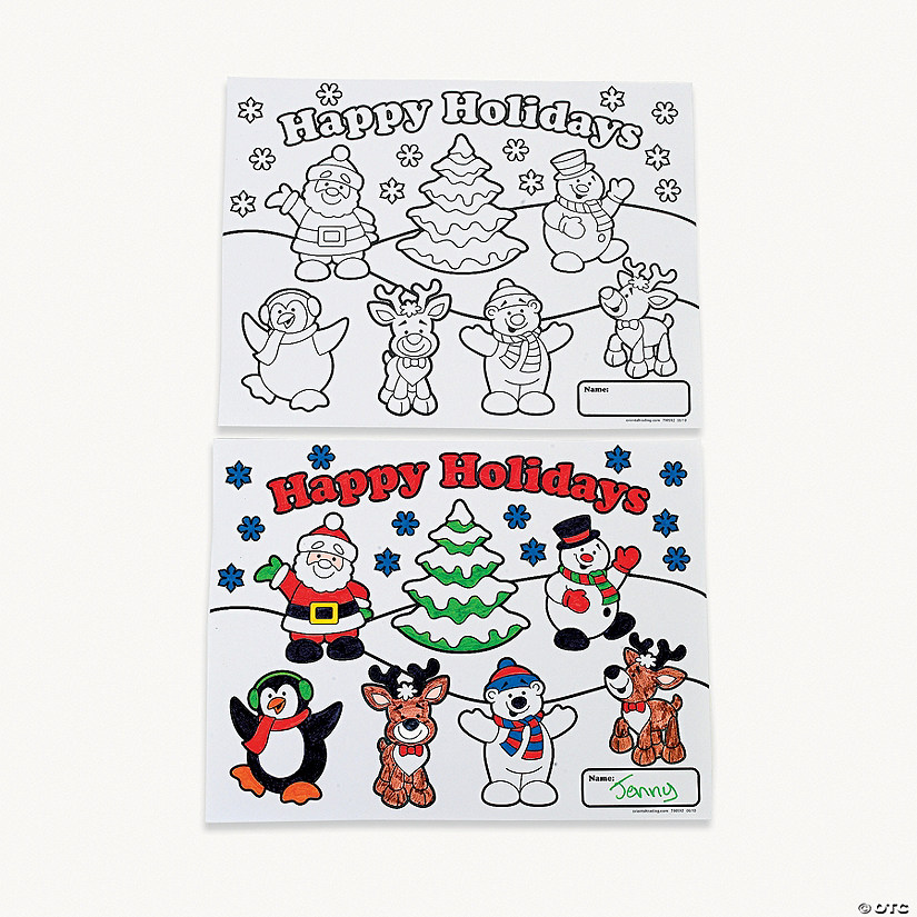Holiday Coloring Contest Sheets - Discontinued