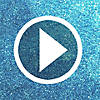Blue Glitter Snowflakes Centerpiece Video Thumbnail 1