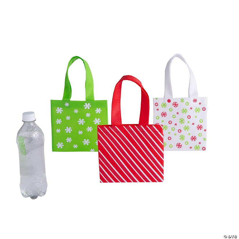 mini basic christmas tote bags