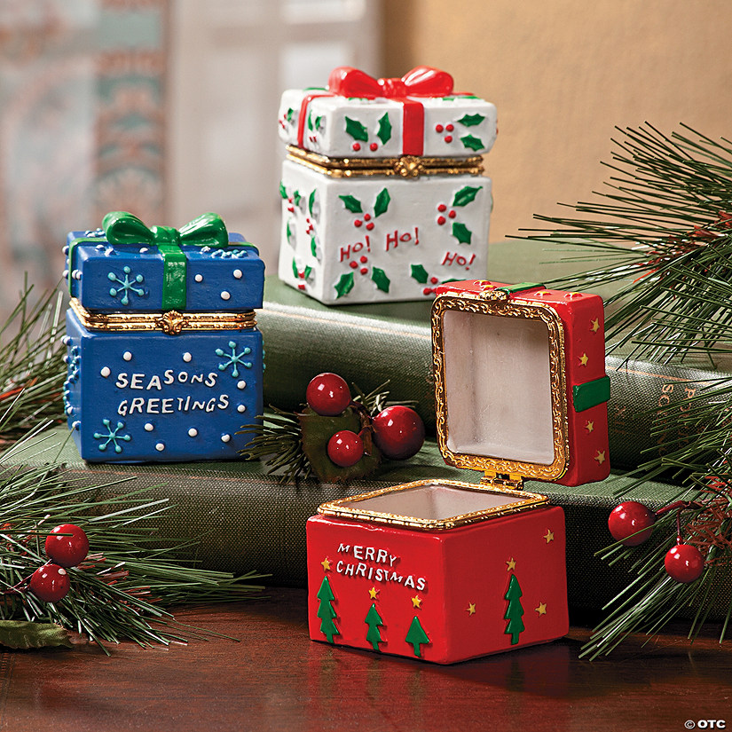 Small Christmas Gifts.Hinged Christmas Present Boxes Discontinued