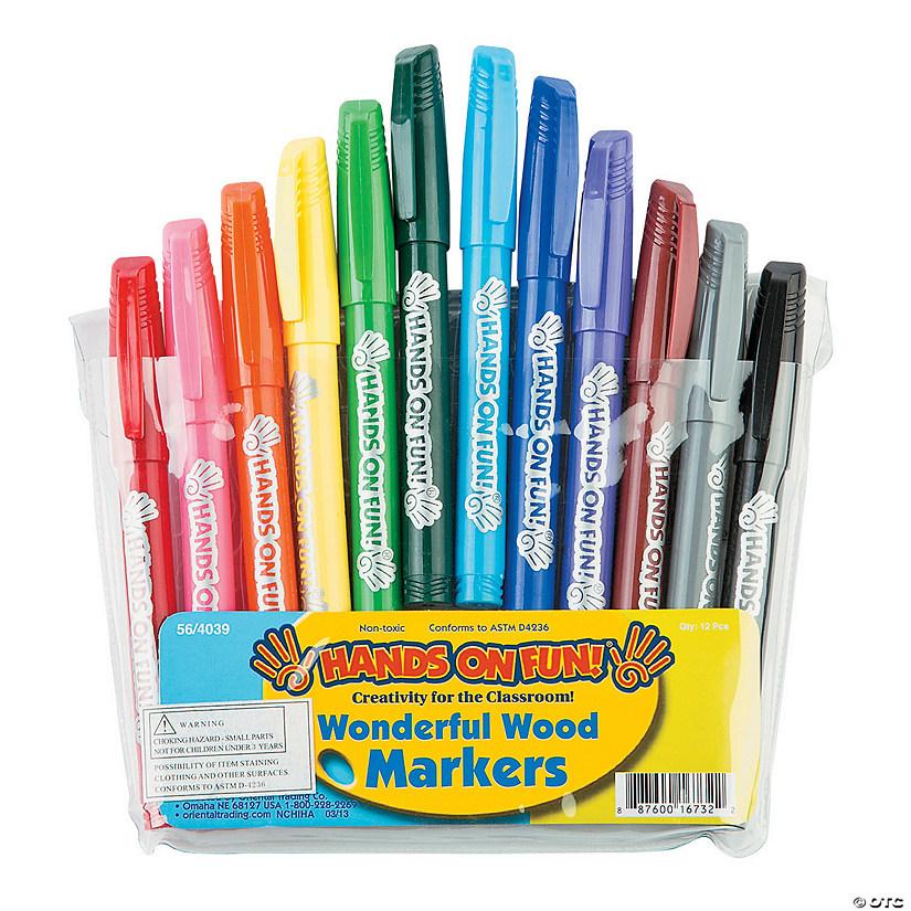 4c486b3a8e918 12-Color Wonderful Wood Markers