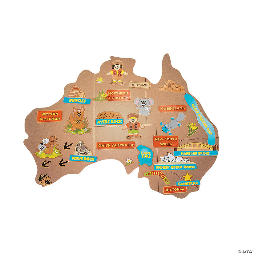 Giant Map Of Australia.12 Design Your Own Giant Australian Map Sticker Scenes Discontinued