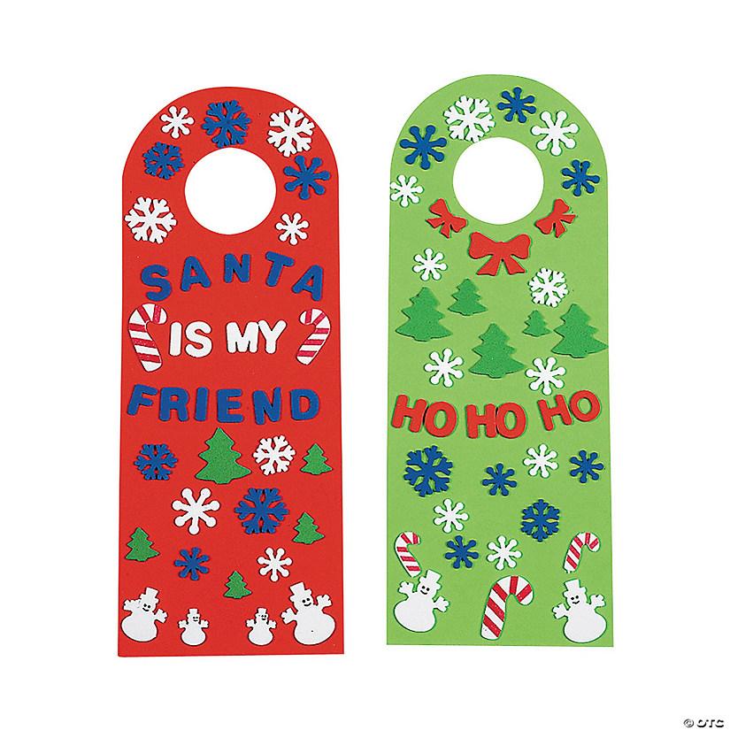 Happy Holidays Doorknob Hangers Oriental Trading