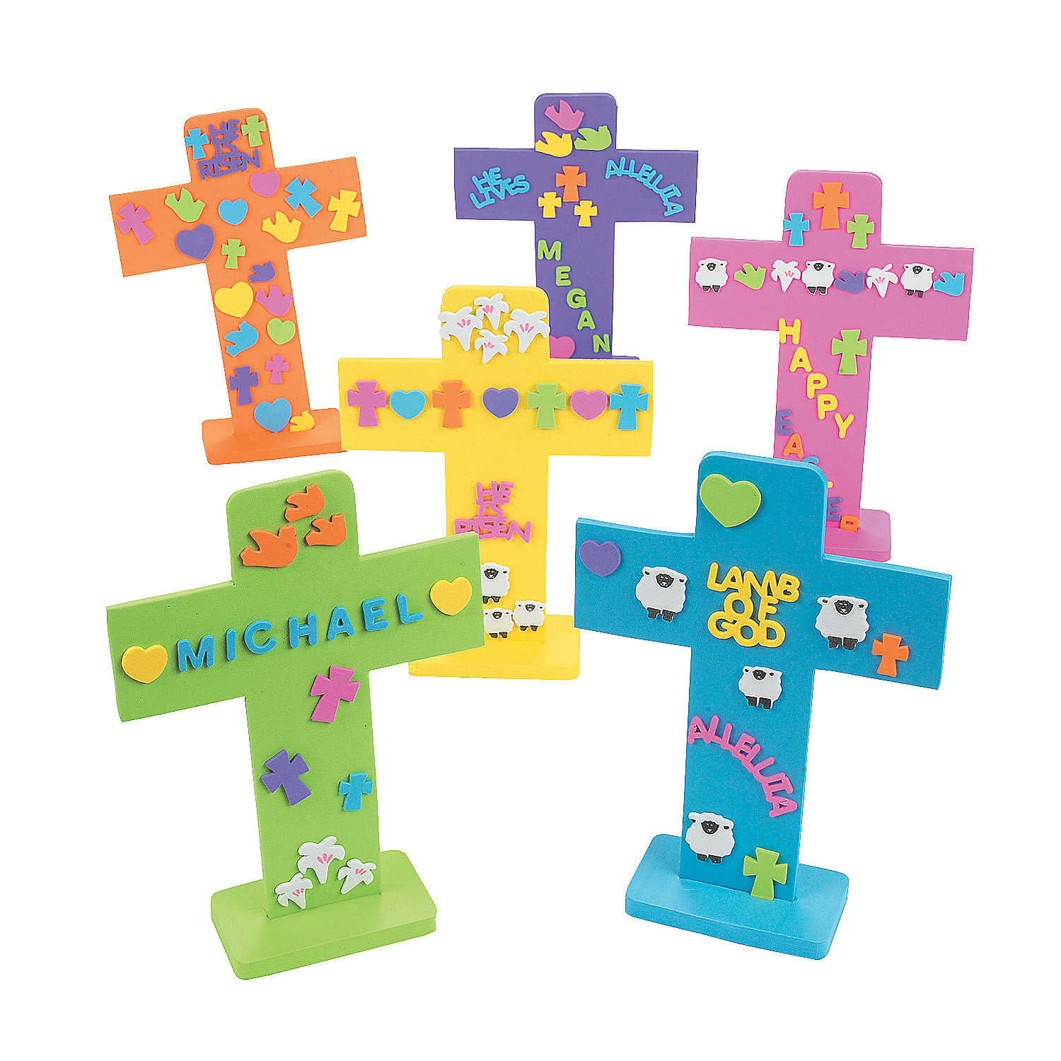 oriental trading crafts easter crosses with stickers trading 2578