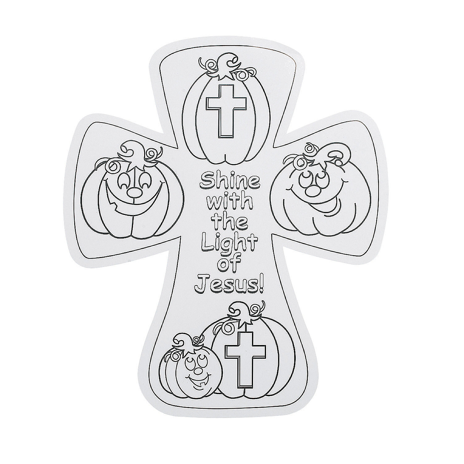 Color Your Own Christian Pumpkin Crosses - Oriental Trading