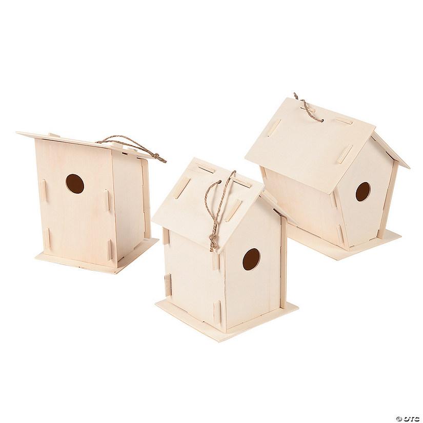 Christmas Birdhouses Crafts.Diy Unfinished Wood Birdhouses