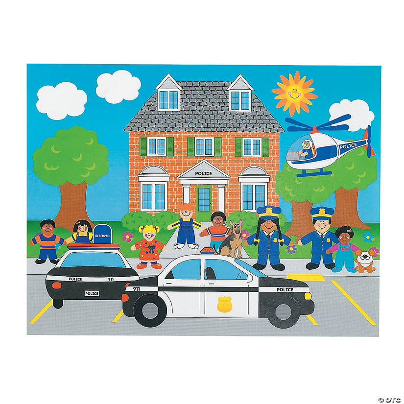 12 DIY Police Sticker Scenes