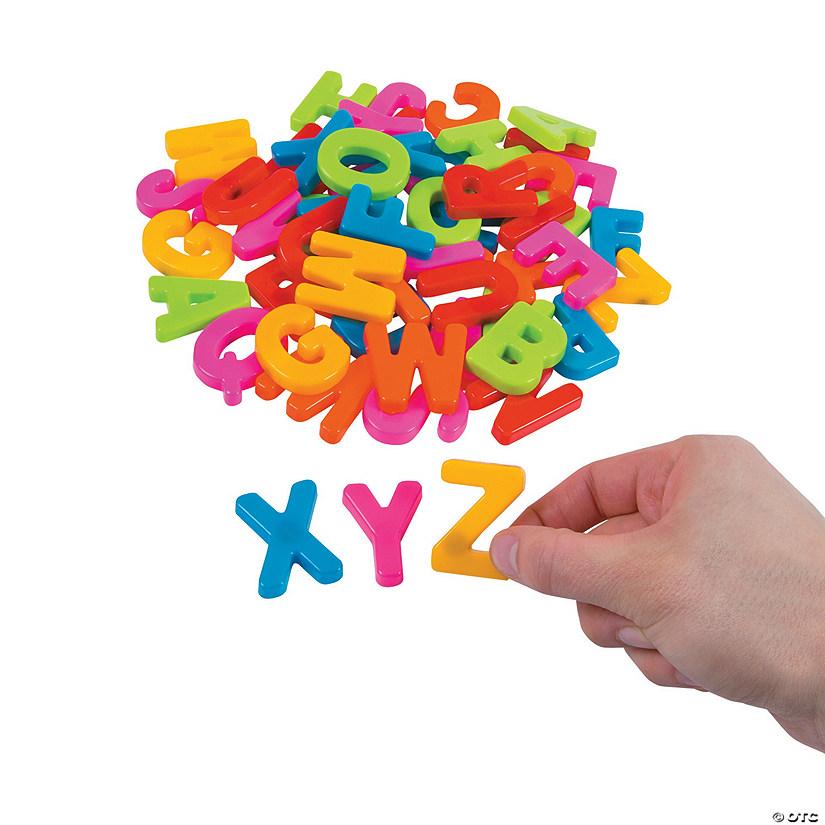 Plastic Magnetic Letters Uppercase Letter Set