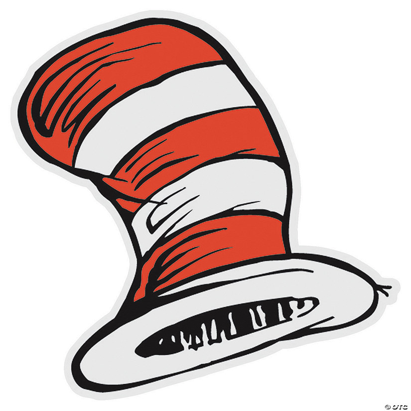 "image about Printable Dr Seuss Hat identify Dr. Seussâ""¢ the Cat inside of The Hatâ""¢ Bulletin Board Cutouts"