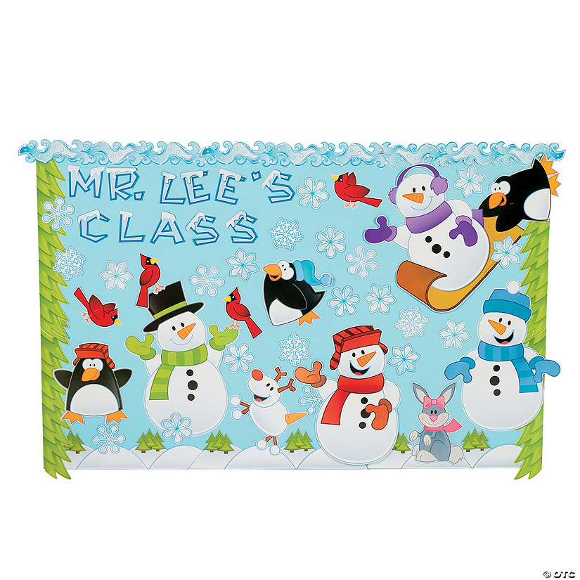 marvelous Winter Bulletin Board Sets Part - 3: Oriental Trading
