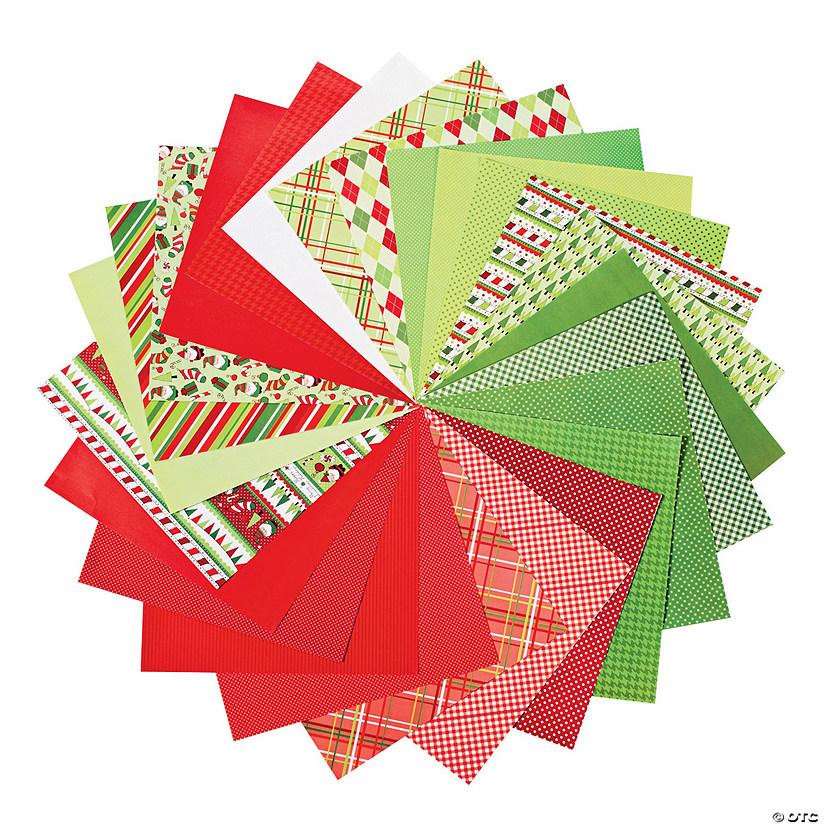 Christmas Scrapbook Paper.Bright Christmas Scrapbook Paper Pack