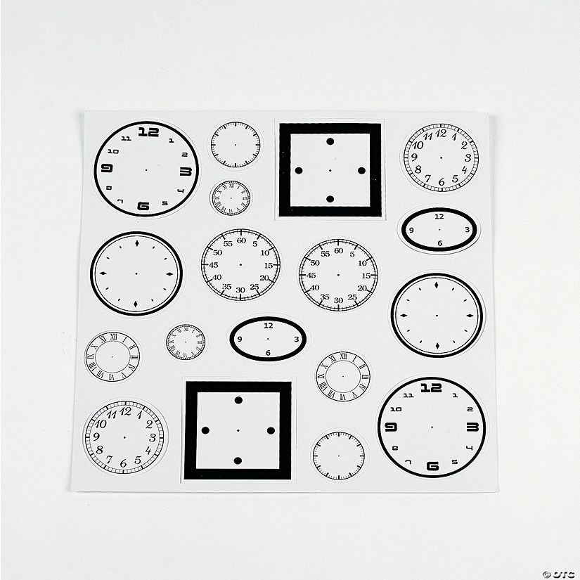 Clock Face Stickers - Discontinued