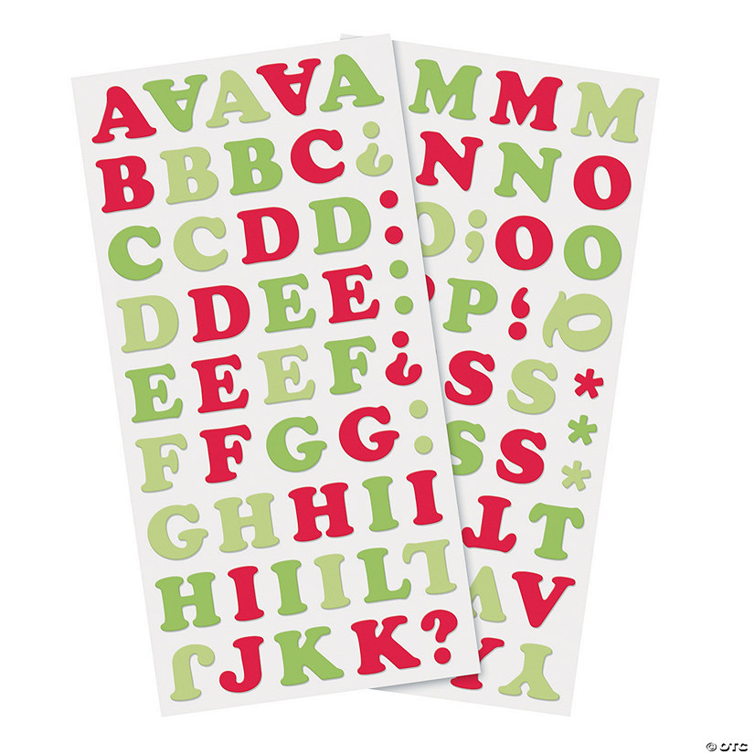 Christmas Alphabet.Christmas Alphabet Chipboard Stickers Discontinued