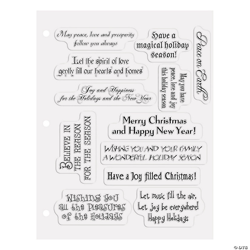 Christmas Card Sayings.Christmas Card Sayings Clear Stamps Discontinued