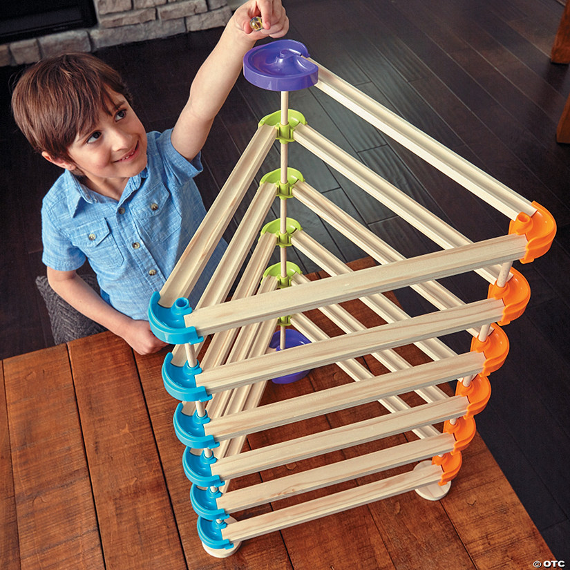 Zoom Rails Wooden Marble Track Mindware