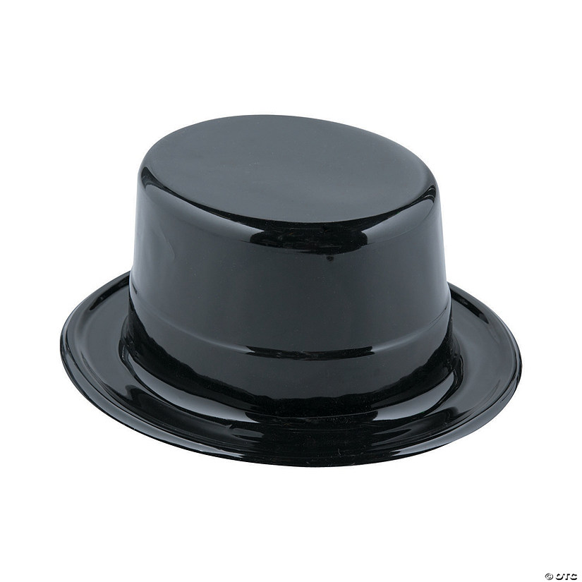 Adult s Black Top Hats 7f4aed29128