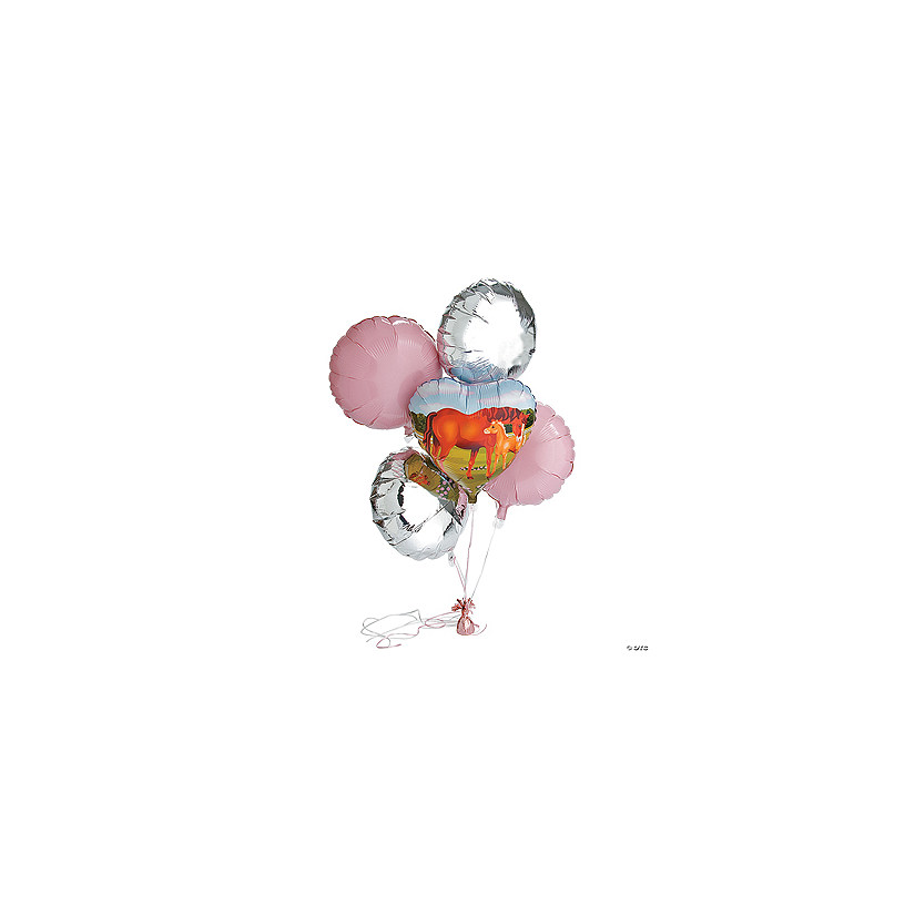 Birthday Mare & Foal Horse Mylar Balloons - Discontinued