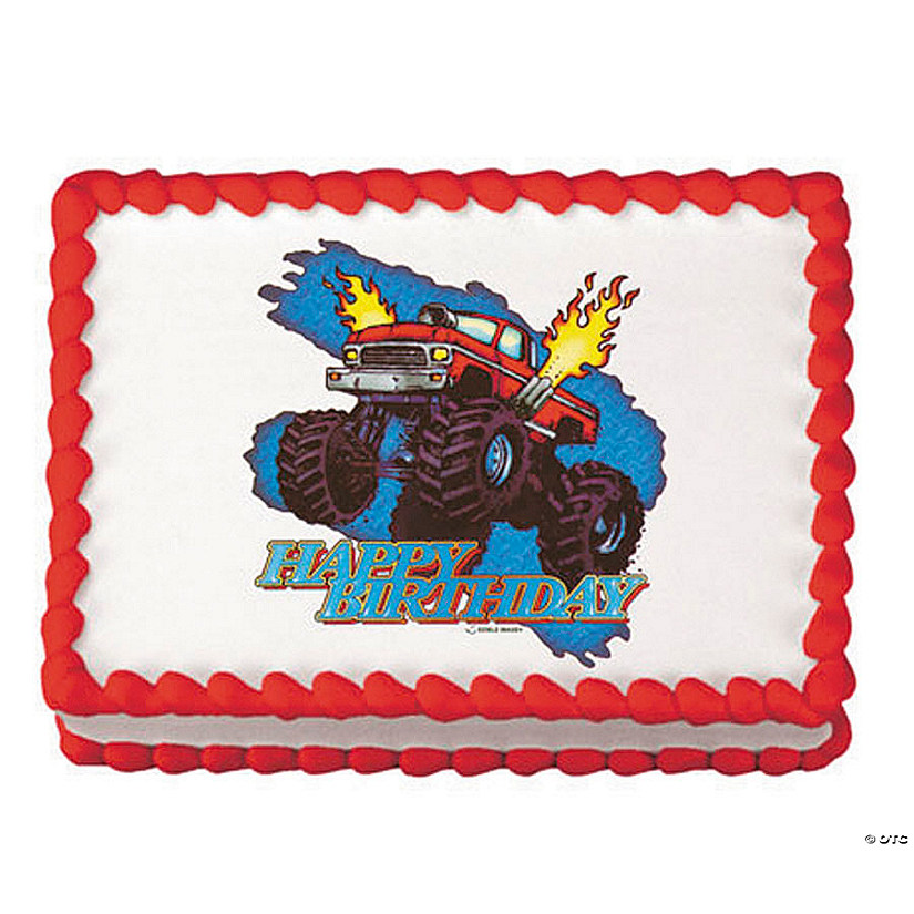 Wondrous Monster Truck Birthday Edible Image Cake Decoration Discontinued Funny Birthday Cards Online Elaedamsfinfo