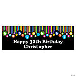 Personalized Small Birthday Dots Vinyl Banner