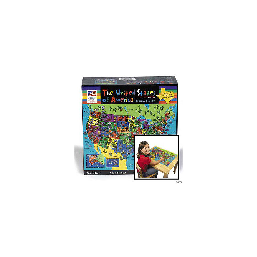 Faces & Places of the USA Map Puzzle - Discontinued