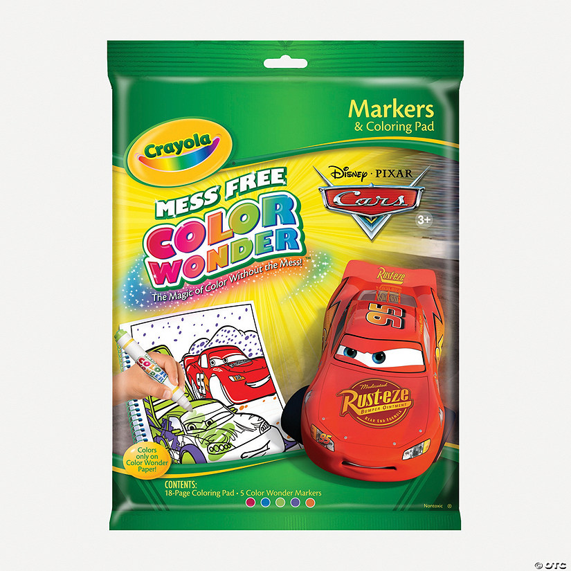 5-Color Crayola® Color Wonder™ Markers with Disney Cars ...