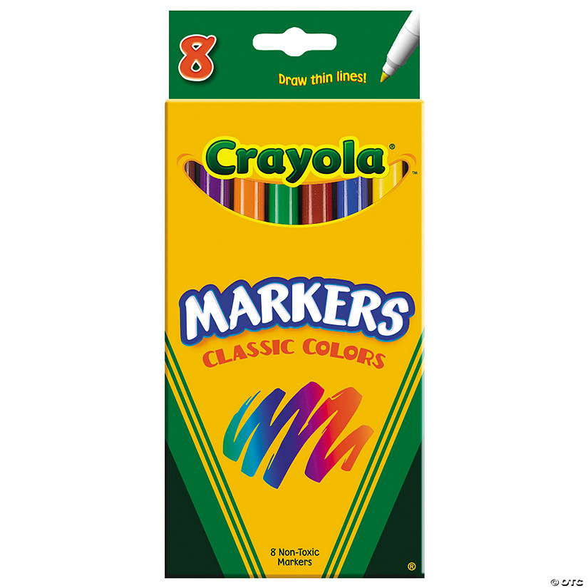 8-Color Crayola® Classic Fine Tip Markers