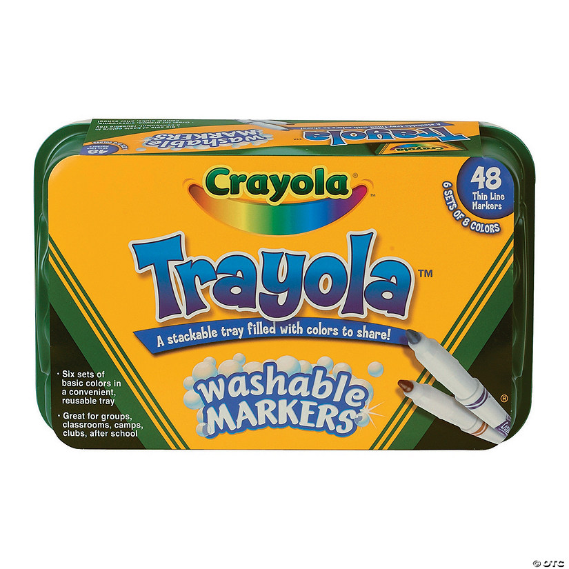 8 color crayola trayola fine tip washable markers