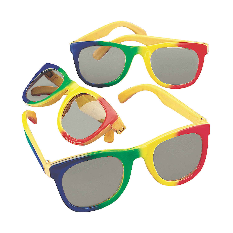 kids rainbow sunglasses 12 pc apparel accessories
