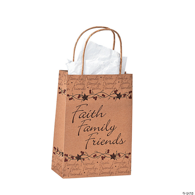 Medium Faith Family Friends Gift Bags