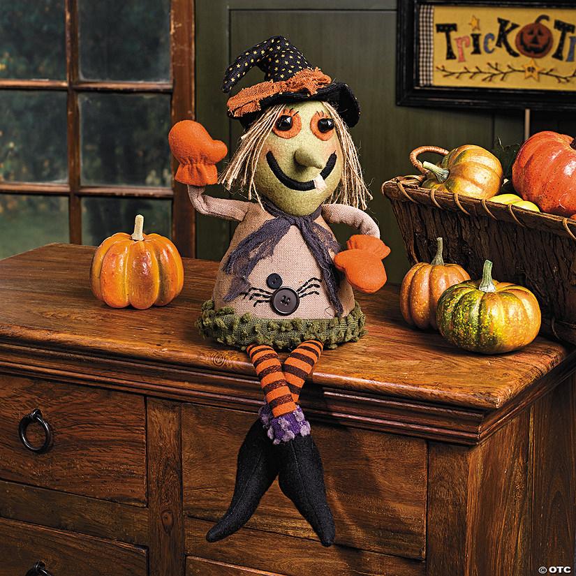 Plush Witch Shelf Sitter Halloween Decoration