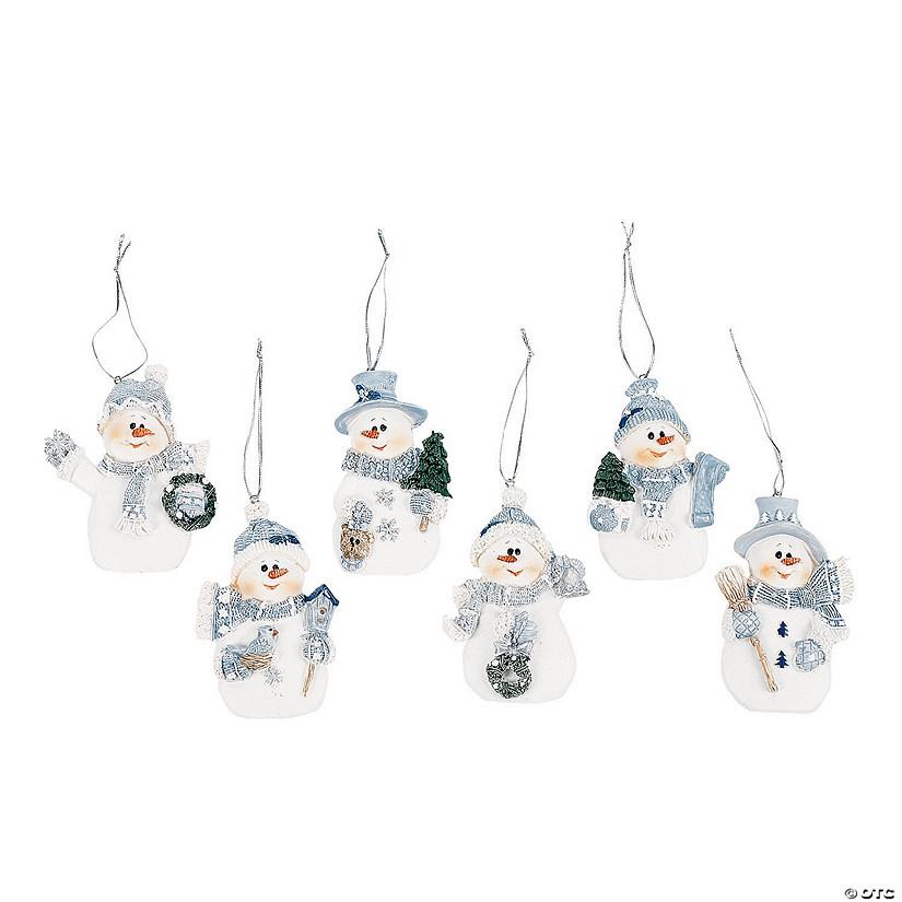 blue snowman christmas ornaments