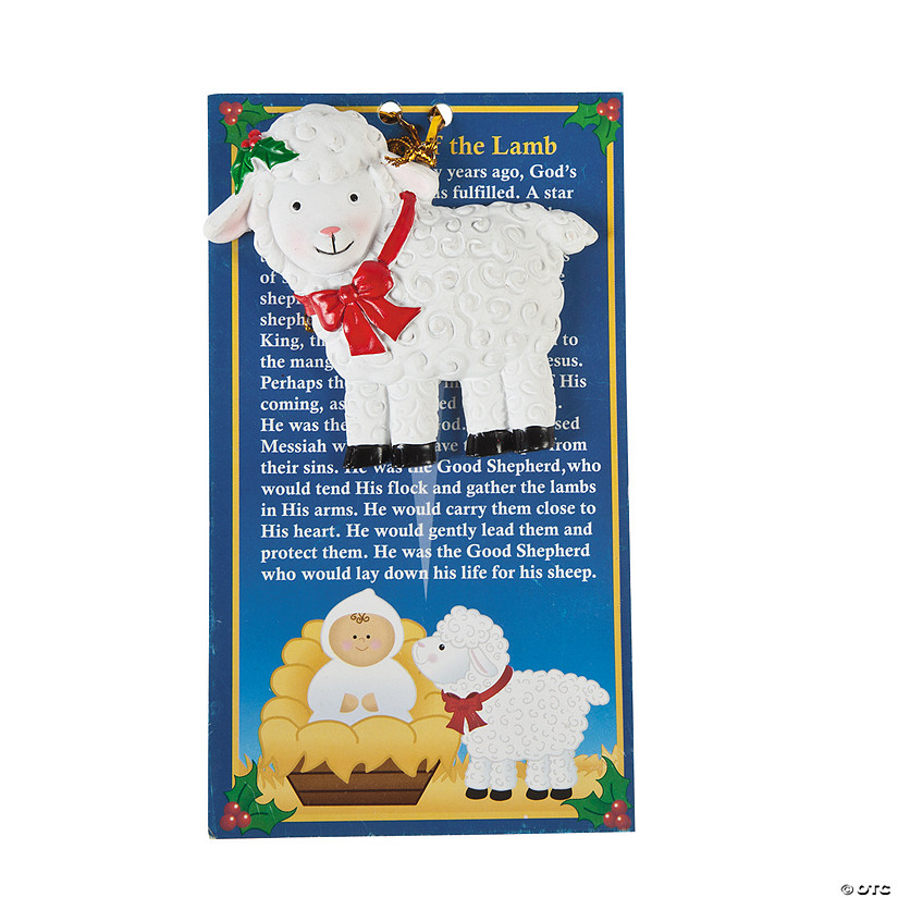 """Legend of the Lamb"""" Christmas Ornaments with Card"""