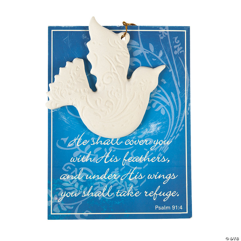 Beautiful Religious Christmas Cards.His Feathers Christmas Ornaments With Card