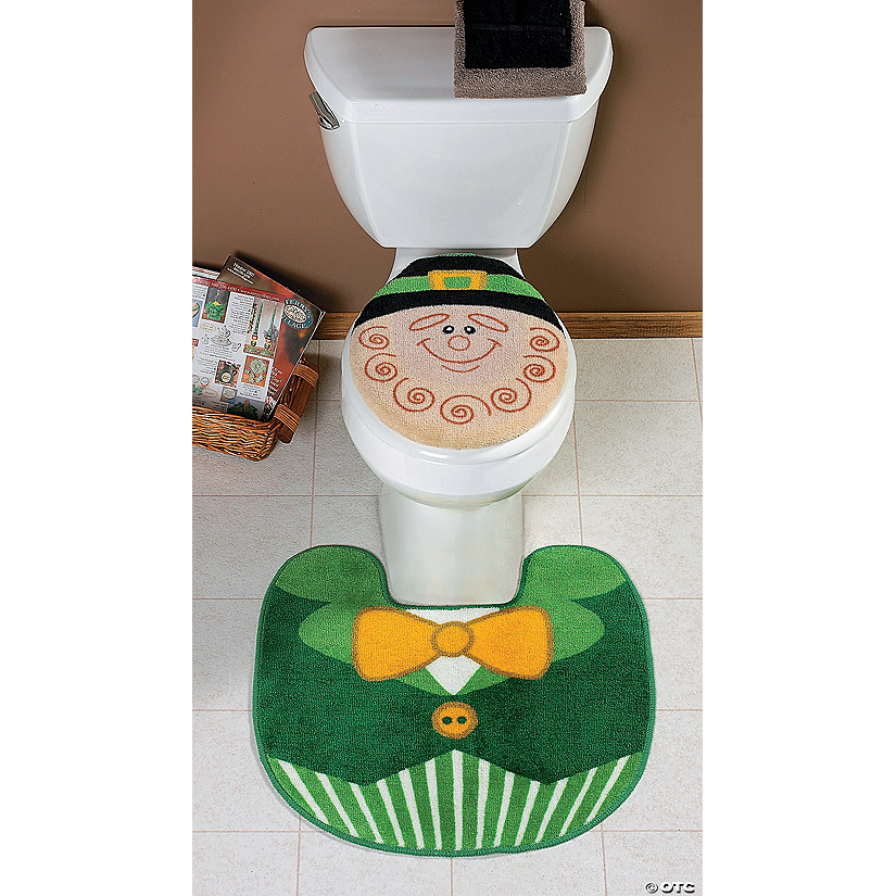 Leprechaun Toilet Lid Cover & Rug - Discontinued