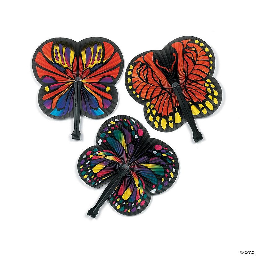 Monarch Butterfly-Shaped Folding Hand Fans