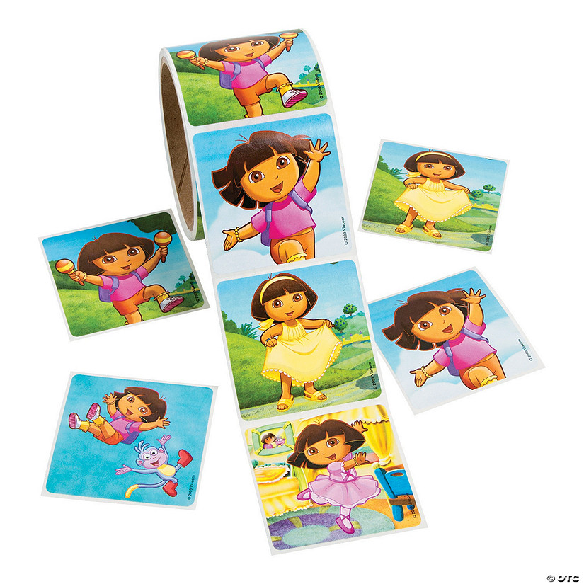 Jumbo Dora the Explorer™ Sticker Rolls - Discontinued