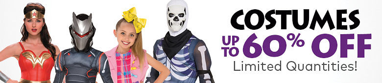 Costumes Up to 60% Off Limited Quantities