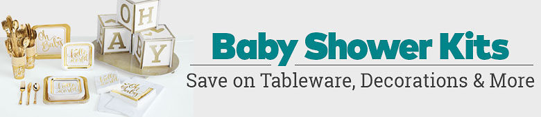 Baby Shower Kits. Save on tableware, decorations and more